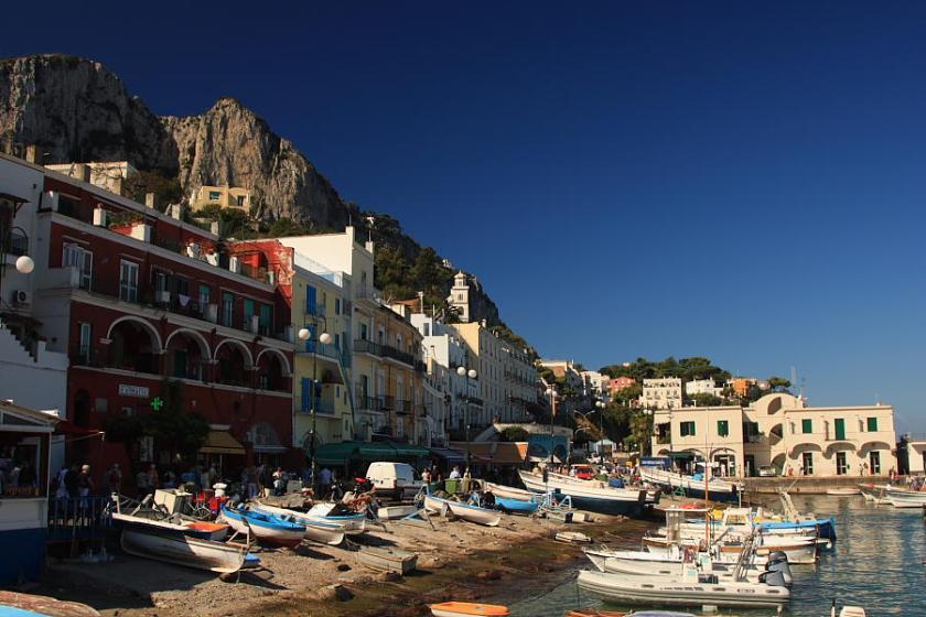 Llegada al puerto de Marina Grande, Capri