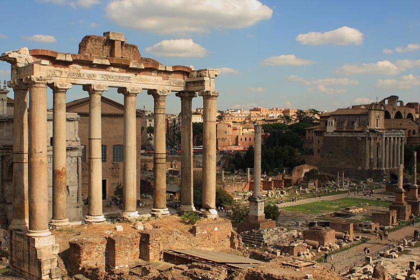 Vista del Foro Romano desde el Campidoglio