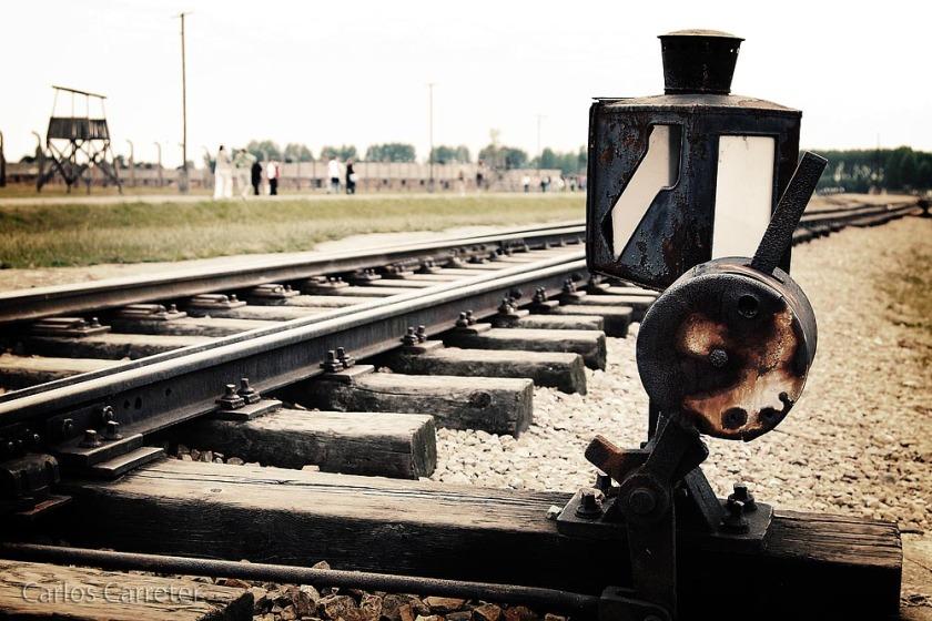 Cambio de agujas en las vías de acceso al campo de Auschwitz II - Birkenau, Polonia - Canon EOS 40D, EF 24-105/4L IS USM