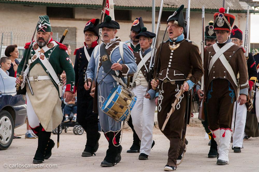 Este fin de semana que viene, en Zaragoza va a haber actividades relacionadas también con el recreacionismo militar de la época.