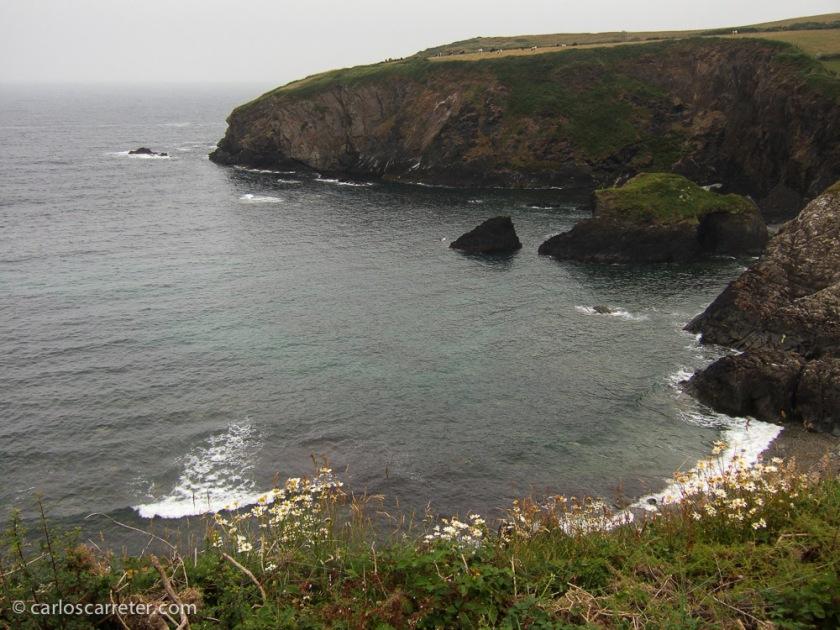 Acantilados en la costa de Pembrokeshire.