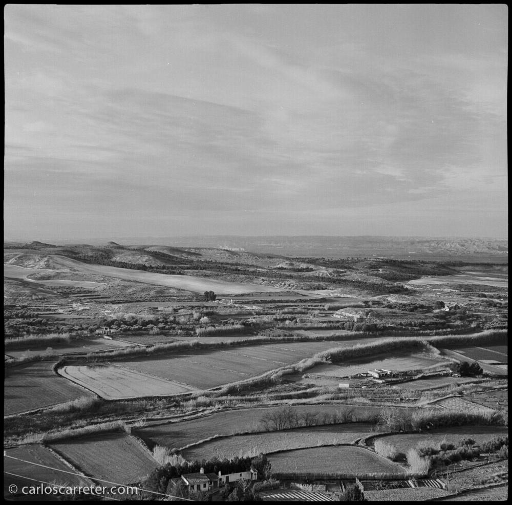 Paisaje del valle en dirección hacia Fuentes de Ebro.