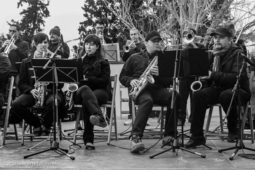 La fiesta amenizada por el jazz de la Dubadú Band.