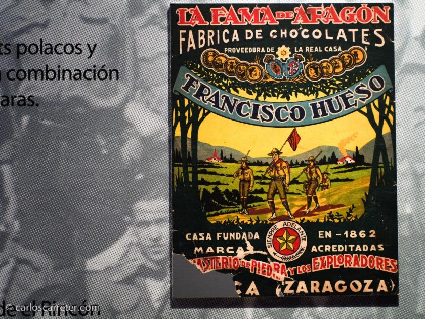 En el Centro de Historias de Zaragoza se está celebrando una exposición sobre el centenario del movimiento scout en la ciudad. Y me pasé a verla.