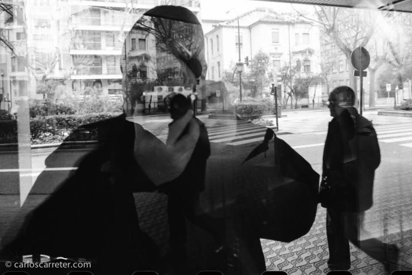 Autorretrato, paseo de Sagasta, Zaragoza.