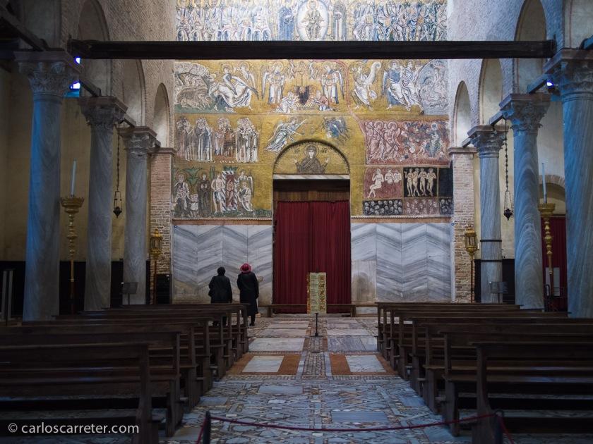 Juicio Final en la basílica catedral de Santa Maria Assunta, Torcello, Venecia.