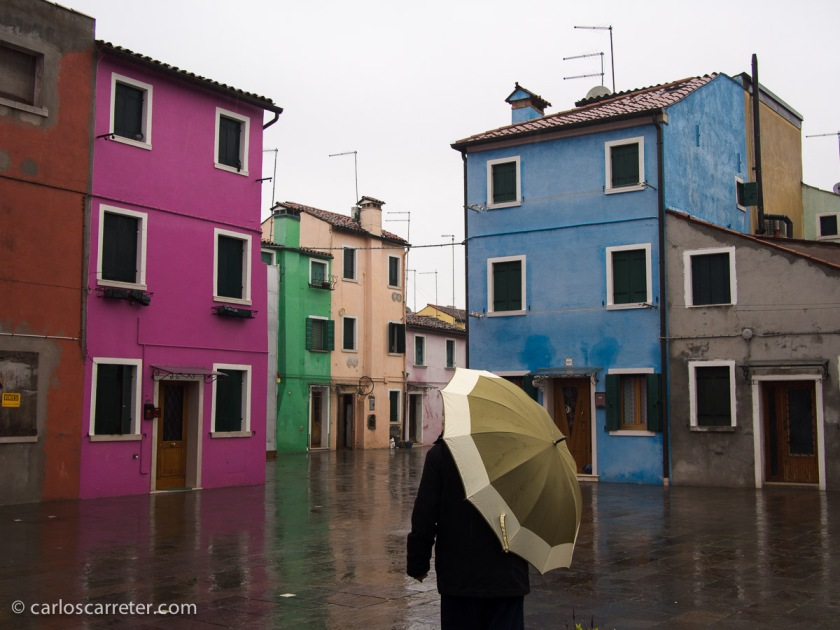 Calle Misani, Burano, Venecia.