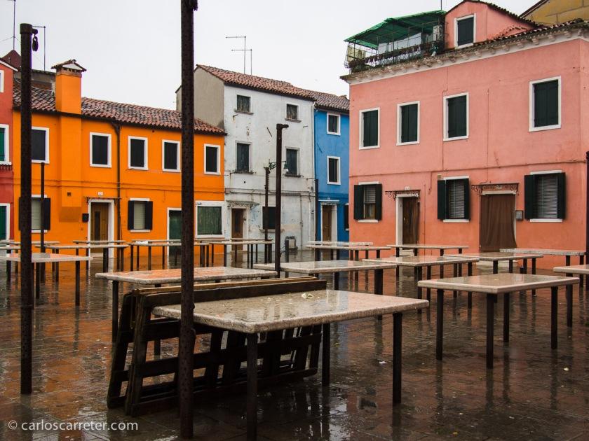 Piazza della Pescheria, Burano, Venecia.