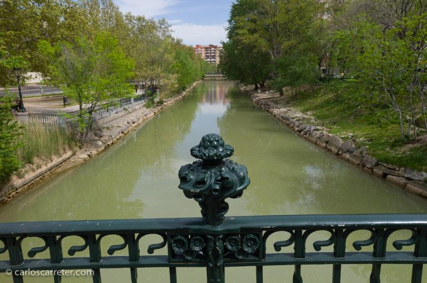 La única corrección de esta foto tomada con el Voigtländer de 25 mm es la distorsión en barrilete, que era obvia aunque no exagerada. Por lo demás está tal cual sale de la cámara. Canal Imperial de Aragón, Zaragoza.