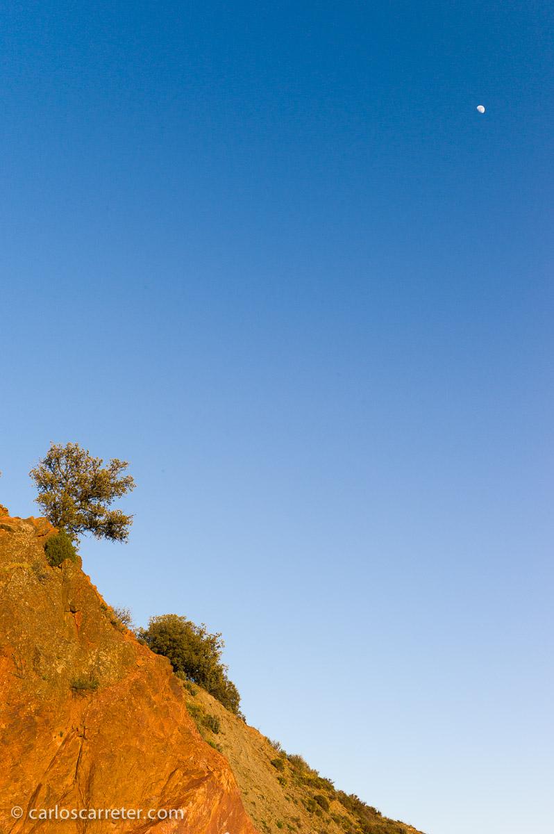 Poniendo a prueba las gamas cromáticas. Paisaje en Hoz de la Vieja, provincia de Teruel.