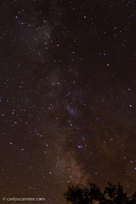 El centro de nuestra galaxia tras 30 segundos de exposición a 1250 ISO y f/2,8.