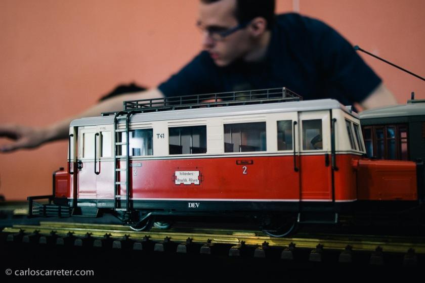 Junio - Diversión entre modelos ferroviarios en Casetas.