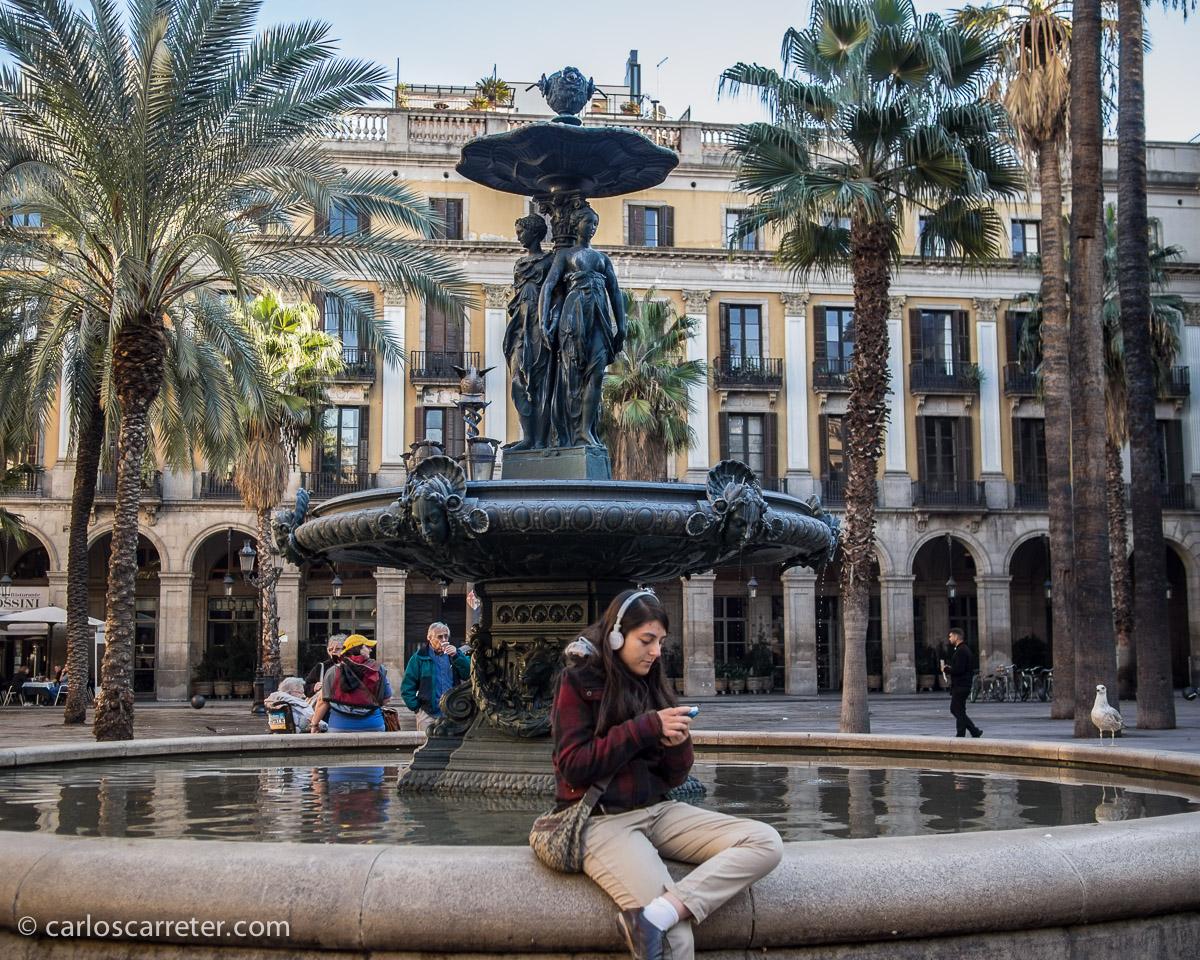 Y para finalizar el año, un día en Barcelona, paseando por el Borne y la Ciutat Vella, comiendo en la Plaza Real.