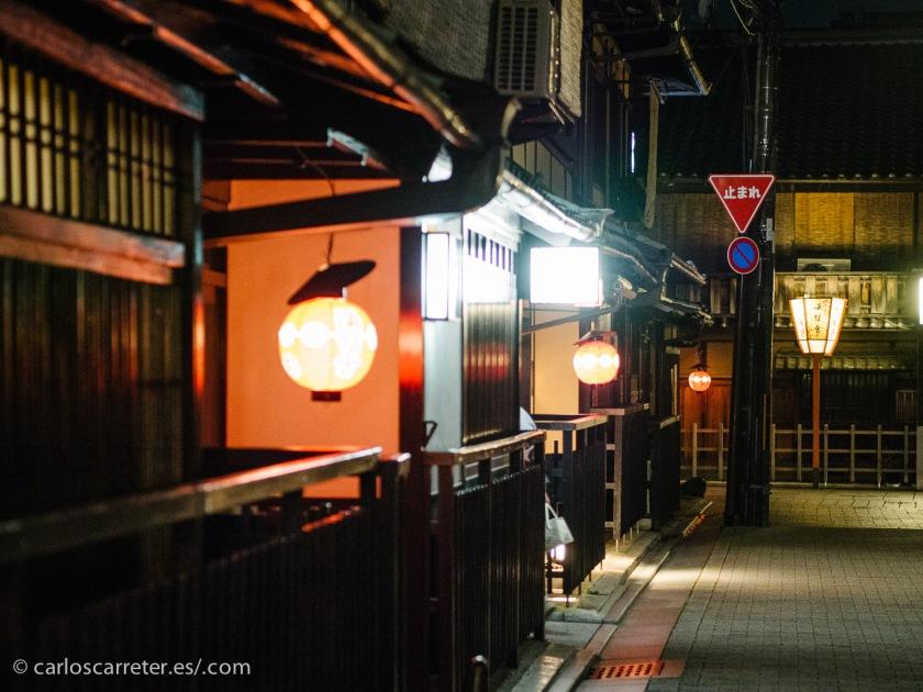 La noche se abate sobre las calle más tradicionales de Gion, en Kioto. Sería la hora de dormir y los sueños, pero no para la protagonista del relato.