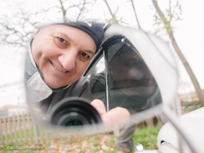 """Me despido con un último selfi en los retrovisores del """"Escarabajo"""" """"Herbie""""... hasta la próxima."""