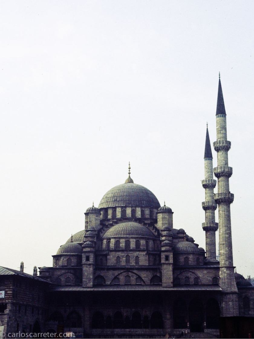 La religión islámica, muy avanzada y culta durante la edad media, se extendió desde la península arábiga por todo el norte de África y por buena parte de Asia, entre pueblos muy diversos. Hoy, los problemas de descolonización, el petróleo, la pobreza y otros conflictos tradicionales, es fuente de numerosos grupos extremistas partidarios de la violencia. Mezquita Nueva de Estambul.