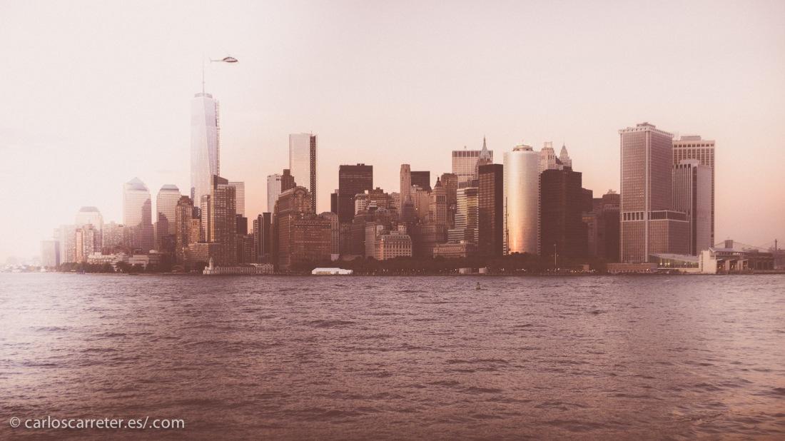 Downtown desde el ferry de Staten Island