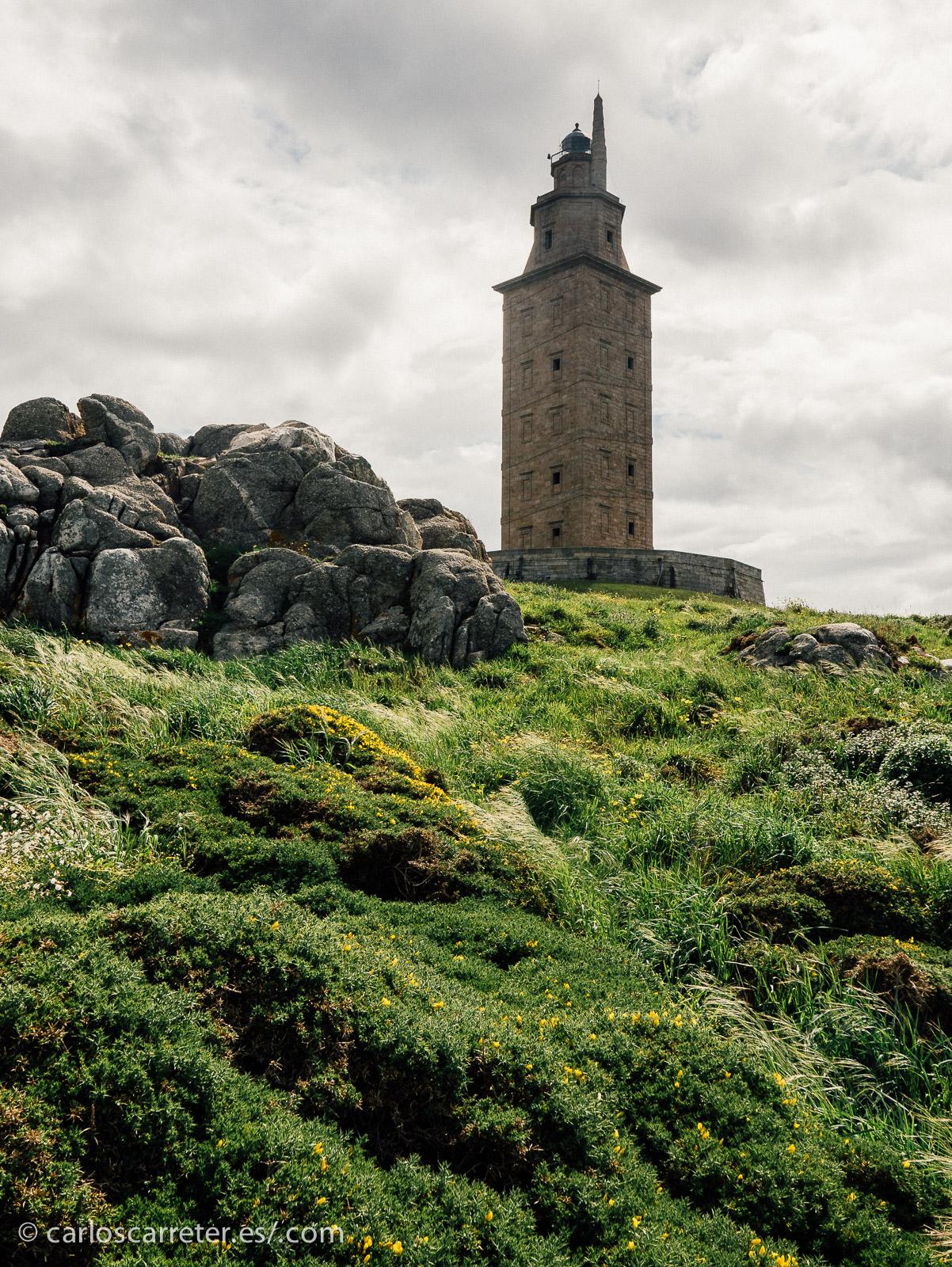 Quizá por el paisaje, quizá por el sol, quizá por el monumento en sí mismo, lo que más disfruté en mi viaje a Galicia fue el paseo en torno a la Torre de Hércules.