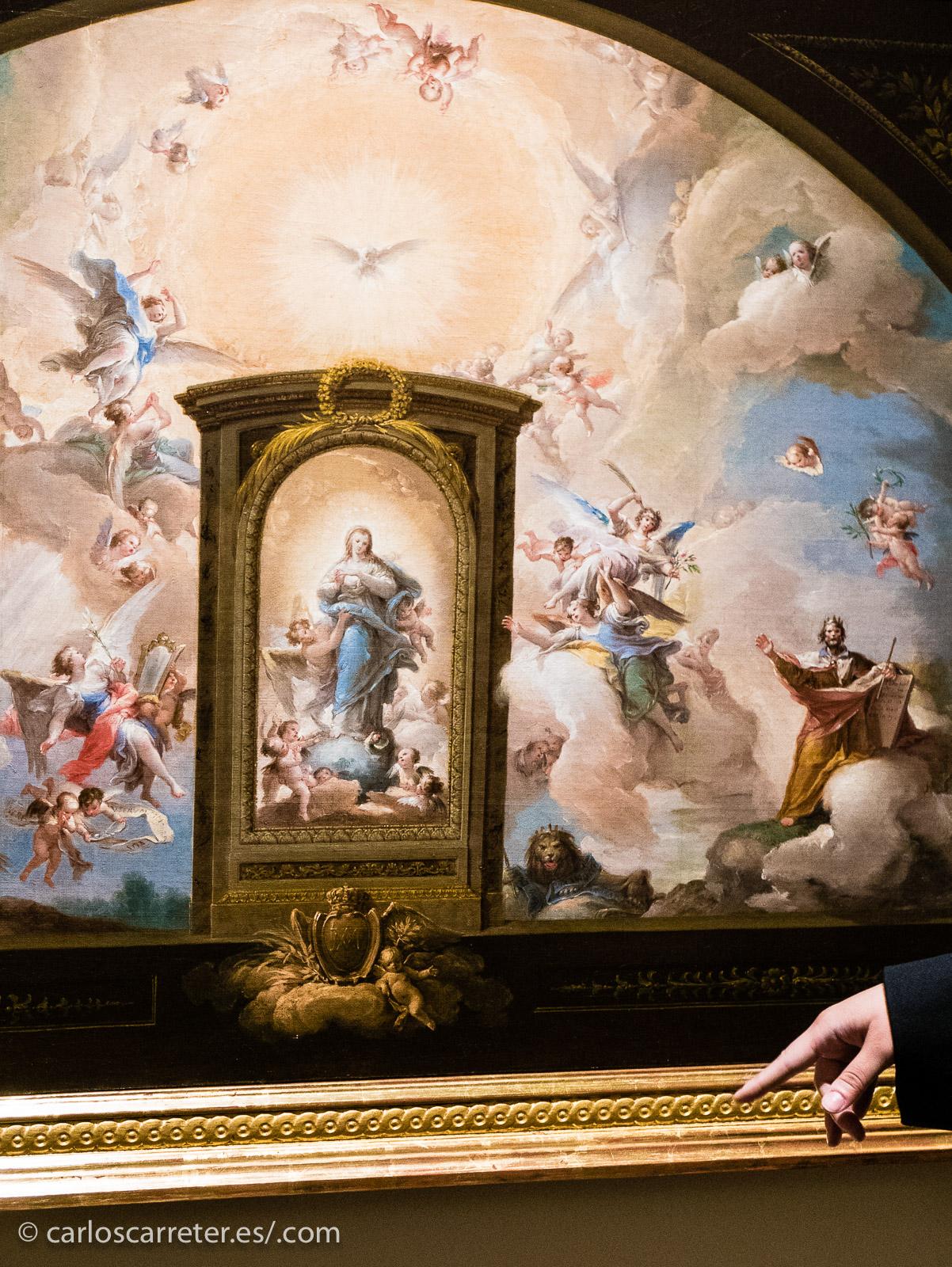 Representación de la Inmaculada Concepción pintada por Francisco Bayeu.
