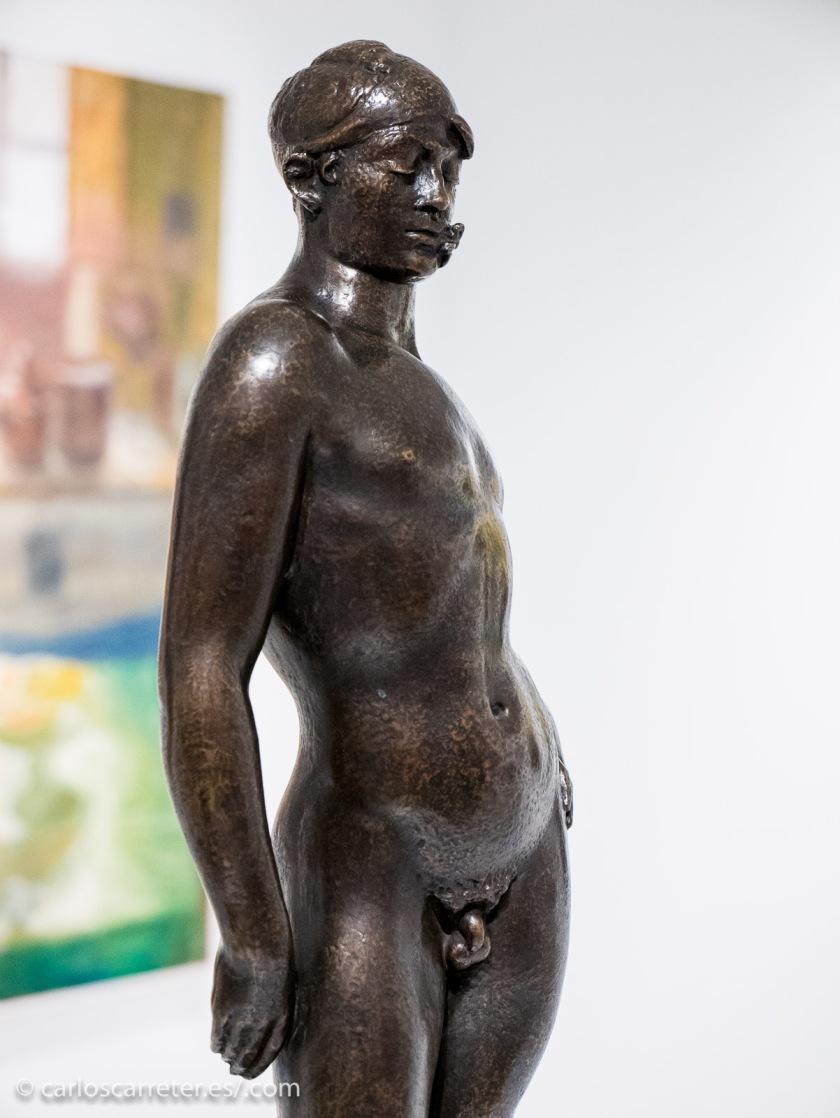 """""""El joven de la margarita"""" de Pablo Gargallo, supuestamente la esencia de ser aragonés."""