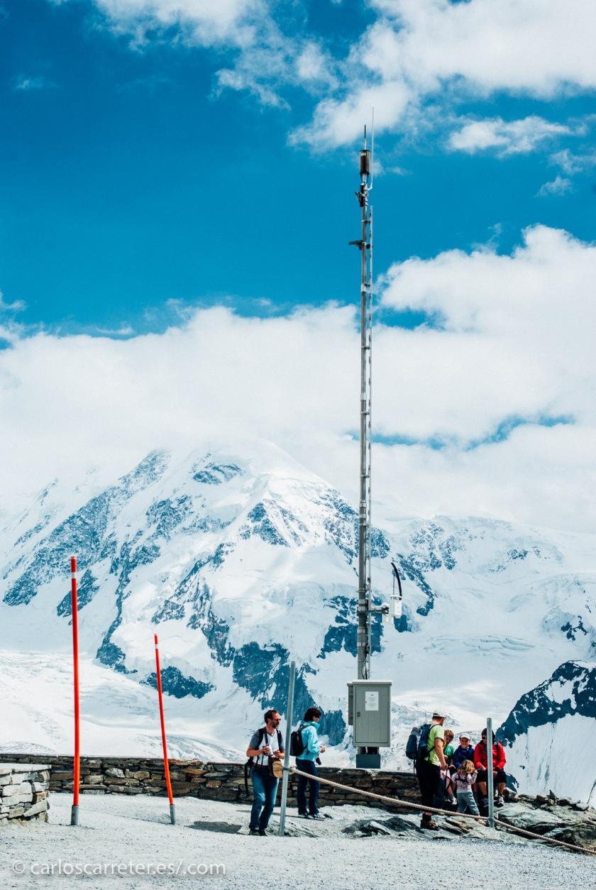 Pero en lugar de visitar los Grisones, nos iremos al Valais (Wallis en alemán), y subiremos desde Zermatt a Gornergrat, frente al Monte Rosa.