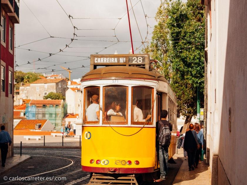 Nos pasearemos por la Alfama y los alrededores de la Sé, con sus coquetos tranvías.