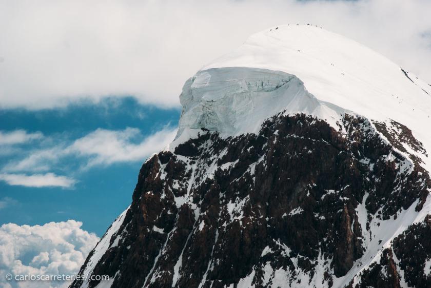 No... No he estado en los Himalayas... Pero si valen los Alpes suizos... El Breithorn un 4.000...  la mitad que el Everest, pero es mono.