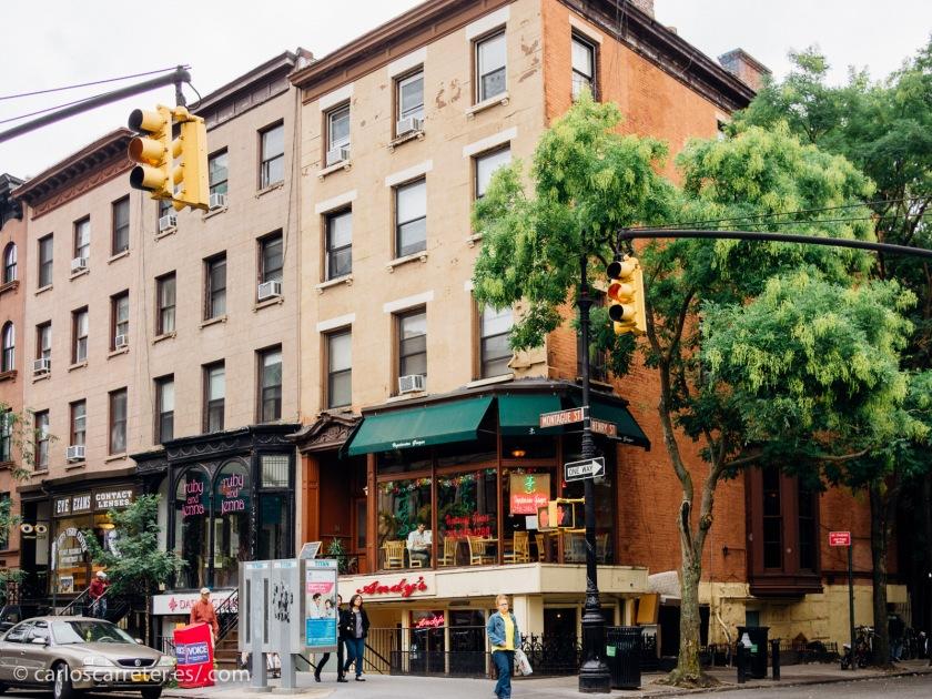 Como muchas de estas series, se alternan los escenarios entre las bulliciosas avenidas de Manhattan y los algo más tranquilos barrios de Brooklyn.
