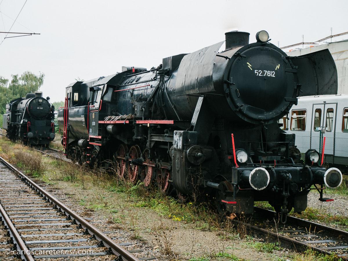 Unas viejas locomotoras de vapor en la estación de Heiligenstadt.