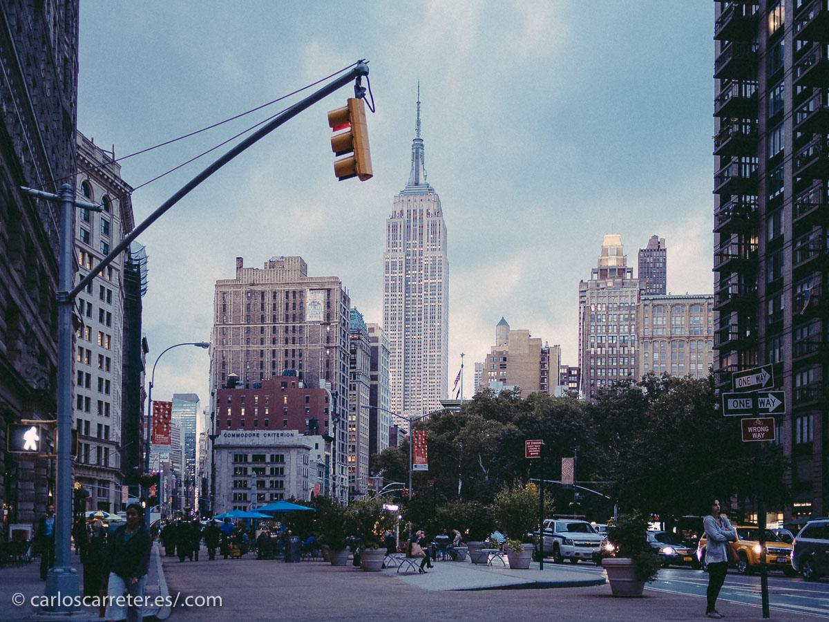 Una vez más Nueva York, por la fuerte presencia de la ciudad en muchas series de televisión.