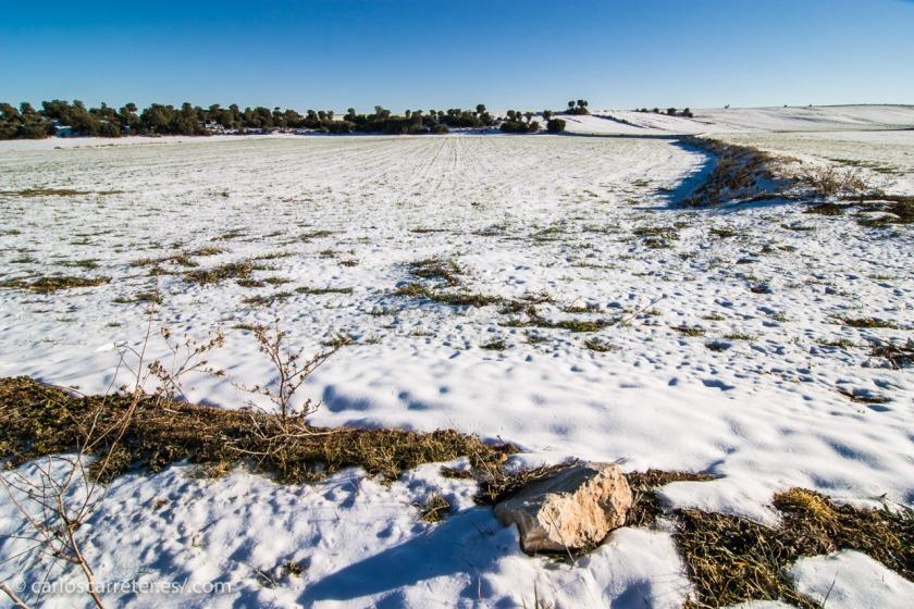 Hoy, paisajes nevados, como en la película. Aunque con sol, como en Ojos Negros.