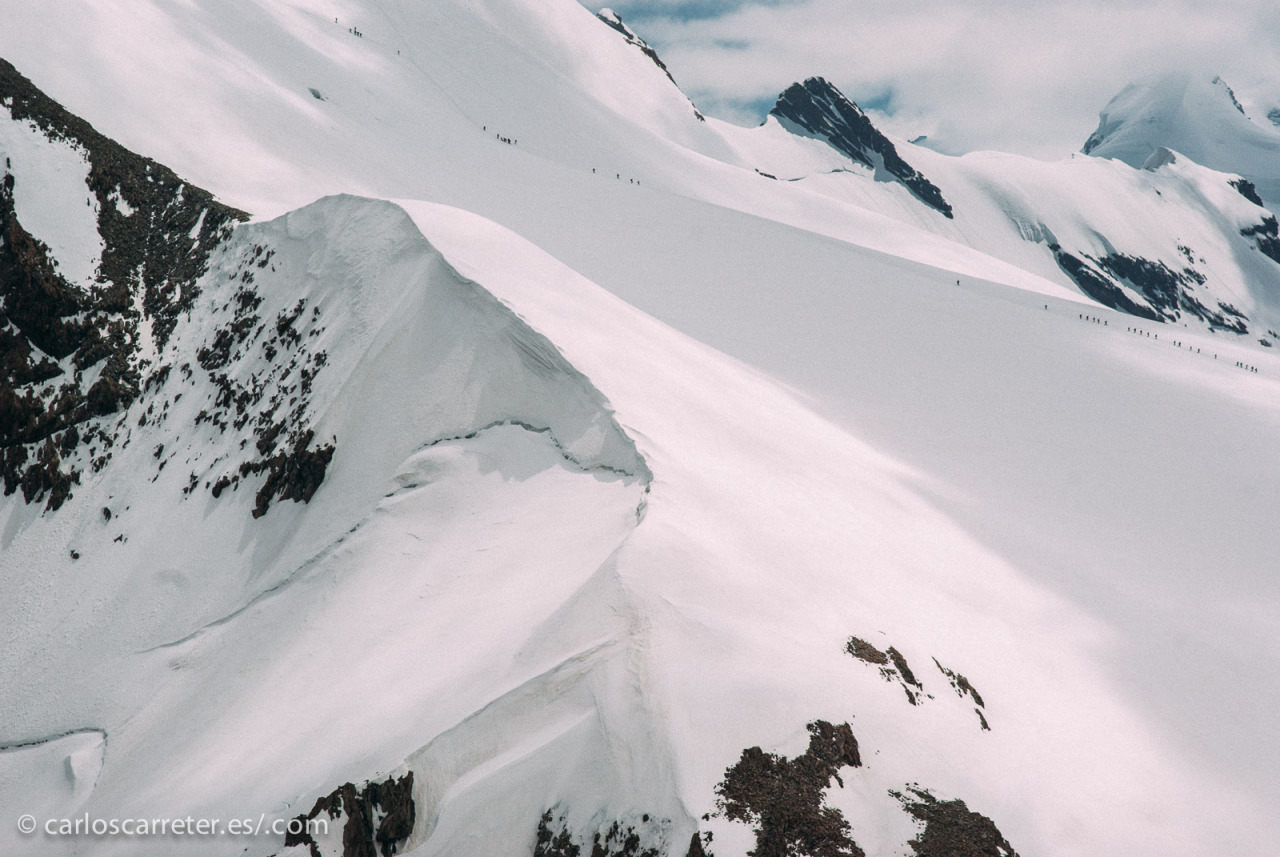 En cualquier caso, bellos paisajes nevados de los Alpes suizos, que me son relativamente familiares.