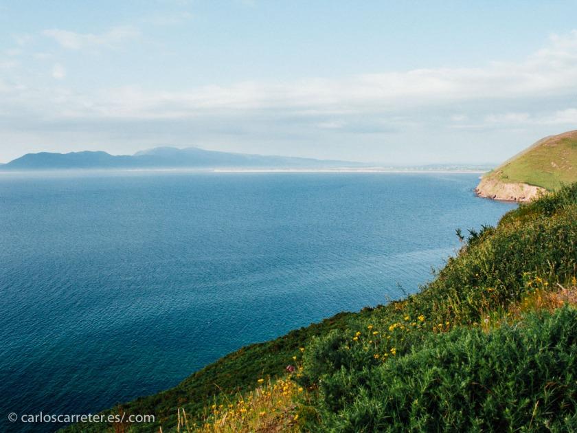 El condado de Kerry, con vistas al Atlántico que tiene que cruzar Eilis para ir a buscarse la vida.