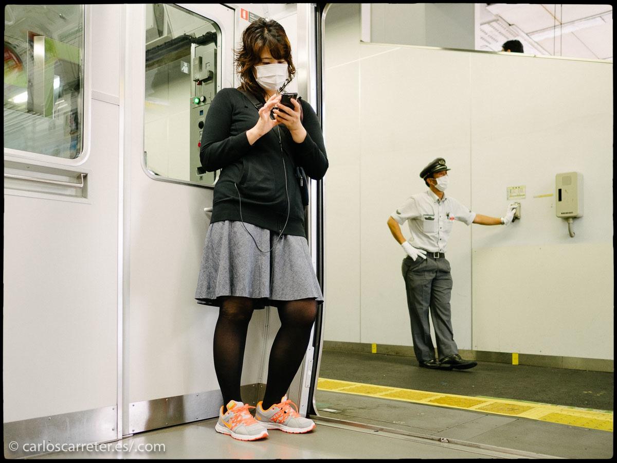 En el tren de la línea Chuo - Tokio