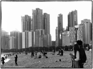 Playa de Haeundae, Busan.
